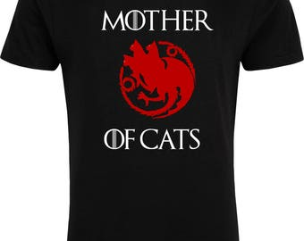 Mother of Cats - T-Shirt - Game of Thrones Pargody - Free UK Delivery