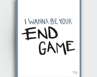 Taylor swift lyrics etsy end game lyrics taylor swift downloadable print watercolor stopboris Images