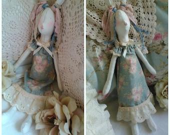 SOLD SOLD Tilda style doll hare bunny tilda dress shabby stuffed handmade home décor soft toy plush ornament