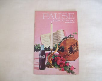 Pause For Living by Coca Cola Winter 1968-1969 Paperback
