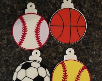 Christmas Sports Ornaments