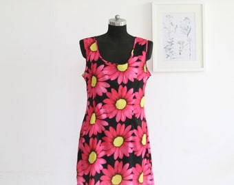 SALE / Mini floral dress, sleeveless summer dress, Mini dress, Party dress size M cocktail dress, tank dress