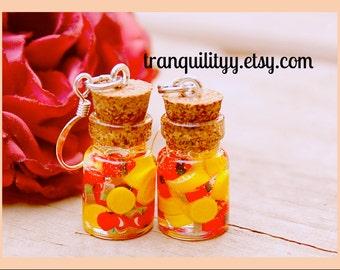 Cherry Lemonade Bottle Earrings , Lemonade .05ml Bottle Earrings, handmade By: Von'Dez Redman