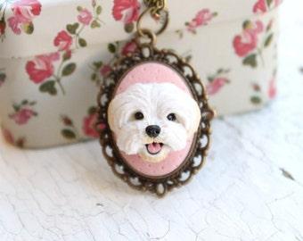 Personalized pet portrait, custom dog portrait, personalized dog portrait, custom dog jewelry, personalized pet jewelry, polymer clay dog