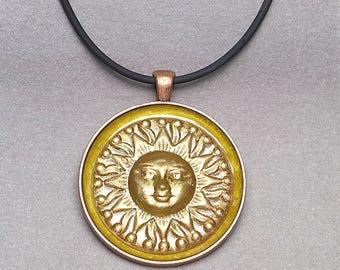 Golden Sun Pendant & Necklace