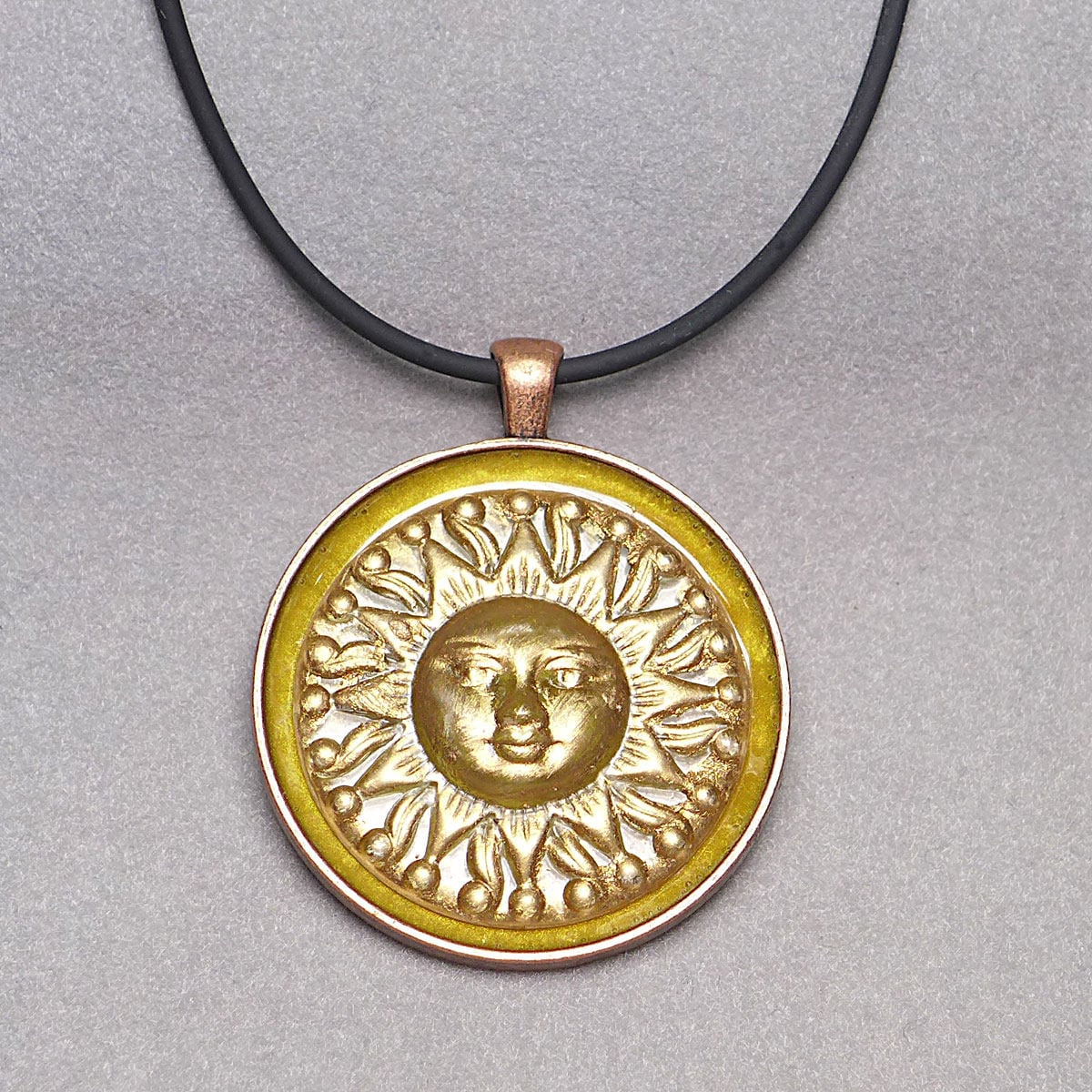 golden jewellery product beachcomber drop sun pendant of img