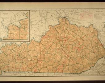 Vintage louisville map | Etsy