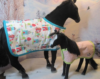 Adorable Horse Blankets for your Pony's next sleepover. Available in 2 sizes: Full size and colt size. Ready to ship.