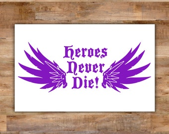 Overwatch Mercy Decal Overwatch Decal - Mercy Overwatch Bumper Sticker Heroes Never Die Video Game Decals Geek Decals Video Game Decor