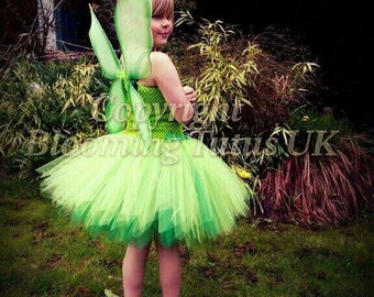 Green Fairy Tutu Dress Fairy with Wings-Birthday, Party, Photo Prop, Fancy Dress