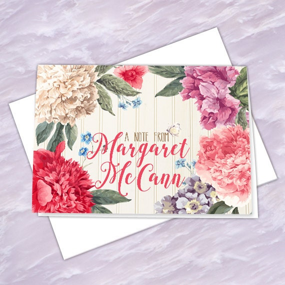 personalized notecards, thank you cards, thank you notes, graduation thank you cards, 4x6 notecards, teacher appreciation, NC127