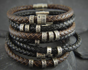 Gift ideas for men, Personalized Leather bracelet, Gift for men, Mens gift, Gift, Mens Personalised, Anniversary gifts, bracelets