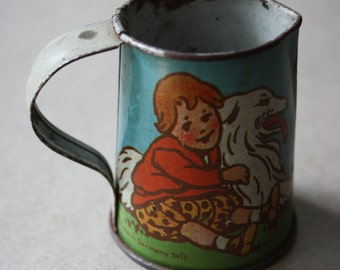 Tin Toy, Lithographed Tea Set, Made in Germany