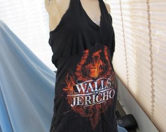 Sale - Walls of Jericho Halter Dress, Festival Dress, Concert Dress, Jersey Dress, Tshirt Dress, Sundress, Halter Top Dress