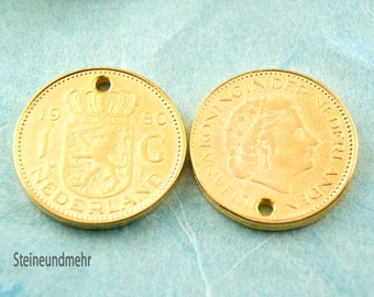 10x pendant coin 23mm large gilded art. 2830