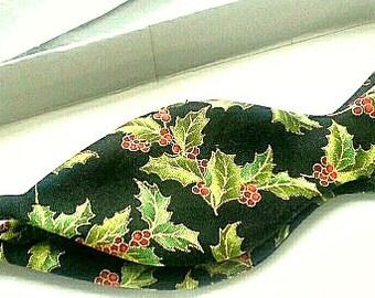 Christmas bowtie self tie freestyle bow tie