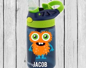 contigo kids, kids lunch bottle, Boy Toddler Gift, Gifts for Boys, Monster Decal, Monster Water Bottle, School Water bottle, toddler bottle