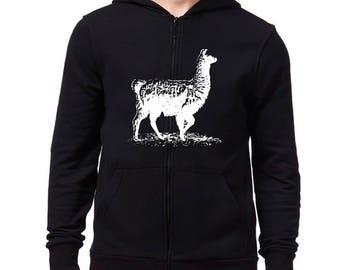 Cute Desert Llama Scene with Mountains Hoodie Sweatshirt 3tUz0mkp