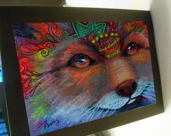 greeting card zentangle foxy blank card