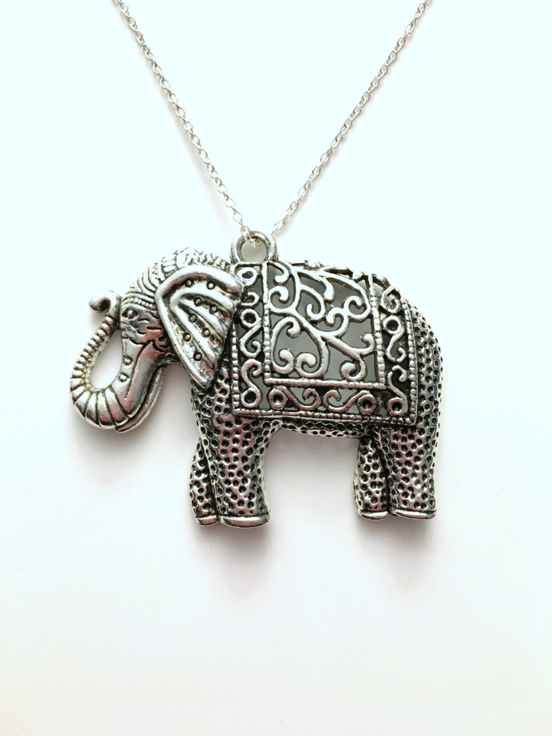 gold silver large jean sales good claude jewelry luck necklace elephant