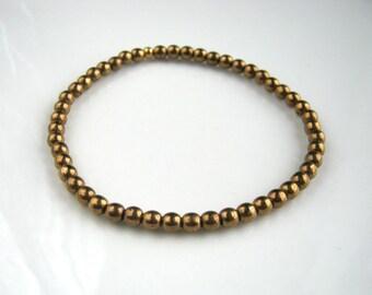 Light Bronze Stretch Bracelet Golden Bracelet Light Bronze Bracelet