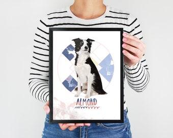 Personalized Pet Portrait | Custom Pet Portrait