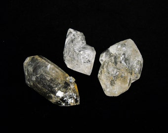 "1.5"" Elestial quartz double terminated points natural crystal natural gemstone rock stone mineral specimen"