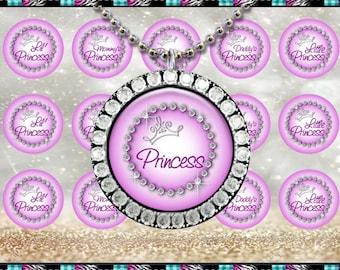 "Princess Sayings Diamonds 2430 - INSTANT DIGITAL DOWNLOAD - 1"" Bottlecap Craft Images (4x6) Digital Collage Sheet"