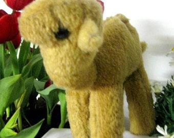 Camel Antique Plush Camel Dromeder stuffed camel OOAK camel straw toy 1950 animal Toys Plush Animal Germany