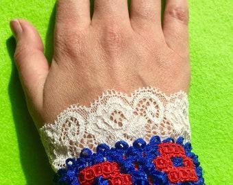 Fishman Donut & Lace Wrist Cuff- Royal Blue