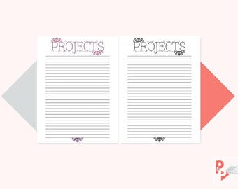 PROJECTS Happy Planner Printable Inserts, Create 365, Happy Planner Insert, Happy Planner Classic, MAMBI Planner, Instant Download