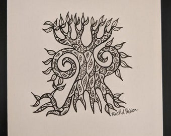 Shifting Tree 1 - Unframed Original Artwork 3x3in