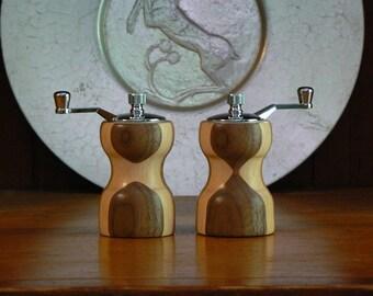 Handmade Wooden Salt and Pepper Grinders - Handmade Wooden Salt and Pepper Mills – Wood, Metal, Ceramic Grinder-SPM402