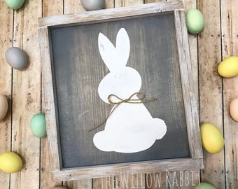 Easter Rabbit | Rustic Easter Decor | Easter Sign | Easter Bunny