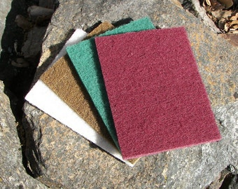 "Maroon 6"" x 9"" Abrasive/Polishing pads for scratch removal, polishing, smoothing sharp edges-they work great"