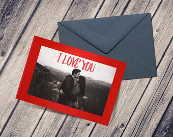 Valentine's Photo Card, Photo Card, Personalized Card, Greeting Card, Love Card, Anniversary, Digital Download