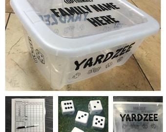 Yardzee, Lawn Dice, Yard Game, Yard dice, Lawn Game, Wedding Reception Game, Outdoor Wedding, family game, outdoor game, Family fun