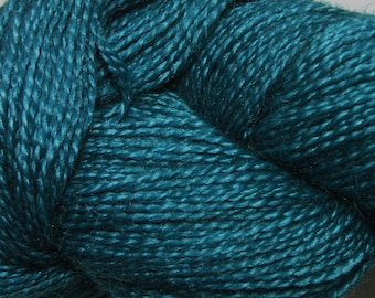 Malabrigo Baby Silkpaca Teal Feather 412 Alpaca Silk Lace Yarn