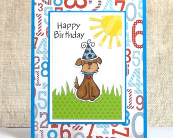 Kids birthday cards etsy birthday card dog card happy birthday kids birthday card birthdays bookmarktalkfo Images
