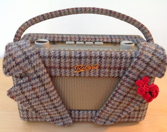 Roberts Radio in Bespoke Harris Tweed Jacket with Detachable Lapels