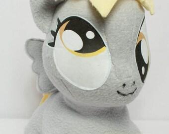 CHIBI Derpy Hooves MLP Hand-Made Custom Craft Plush