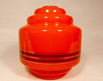 Vintage glass lamp shade from 60's