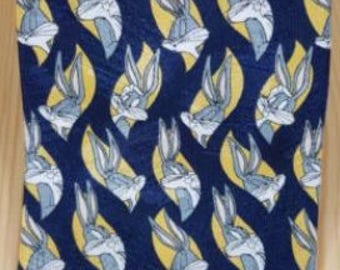 Vintage Loony Tunes Bugs Bunny Navy Blue Novelty Tie Warner Bros Marks & Spencer