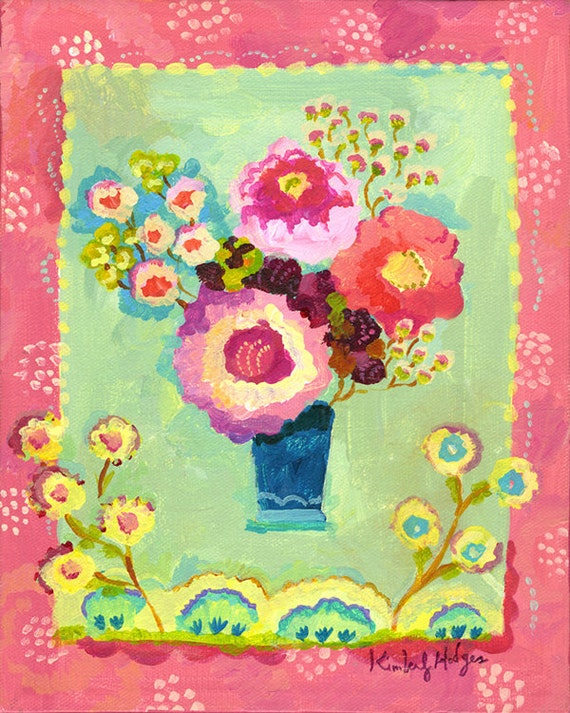 """Petit Blue 8"""" x 10"""" giclee print by Kimberly Hodges,"""