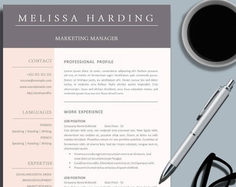 Business professional resume template for ms word creative creative business professional resume template for ms word color design cv template design instant digital download printable yelopaper Choice Image