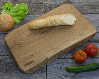 Wood Cutting Board - Oak Hand Crafted Cheese Board / Chopping Board /  Kitchen Serving Board / Gift Board / Appetizer Platter CBO004