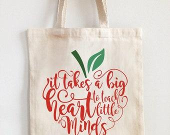 Teacher appreciation canvas tote bag