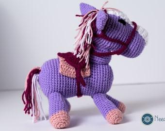 Pony plush, pony softie, amigurumi, baby toy, baby shower gift, crochet pony, horse plush, my little pony