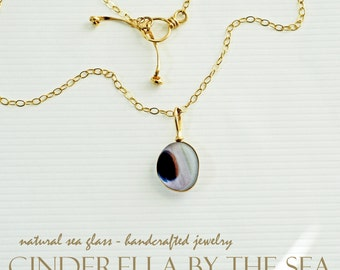 Sea Glass, Genuine Sea Glass, Ultra Rare Rainbow Multi Sea Glass Pendant Handmade Necklace in 14 kt Gold Filled FREE SHIPPING