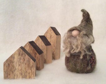 Pine Cone Gathering Needle Felt Wool Gnome Cute Home Decor